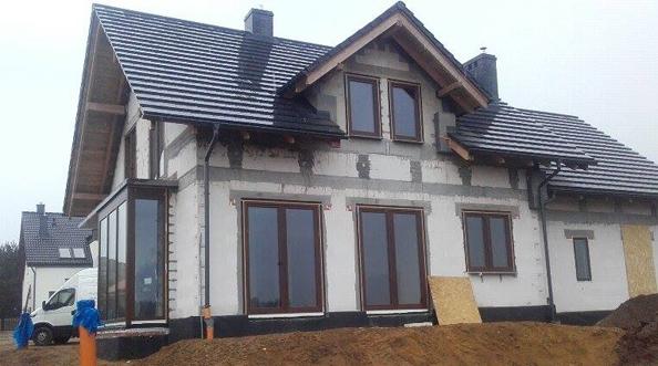 Montaż okien Vetrex V82 w domu jednorodzinnym Gdynia Tczew
