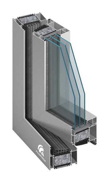 Okno aluminiowe Aluprof MB104 SI