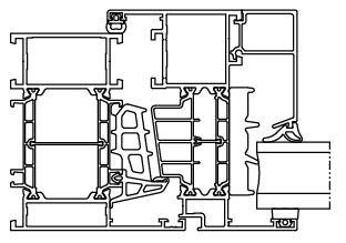 Okno aluminiowe Aluprof MB86 SI