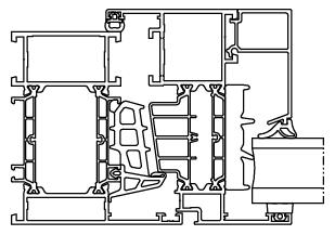 Okno aluminiowe Aluprof MB86 ST