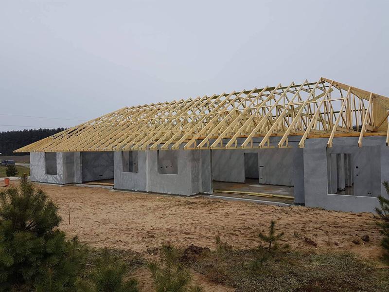 Wznoszony dom jednorodzinny w Bojano