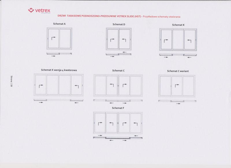 Schematy drzwi HST Vetrex Slide 82