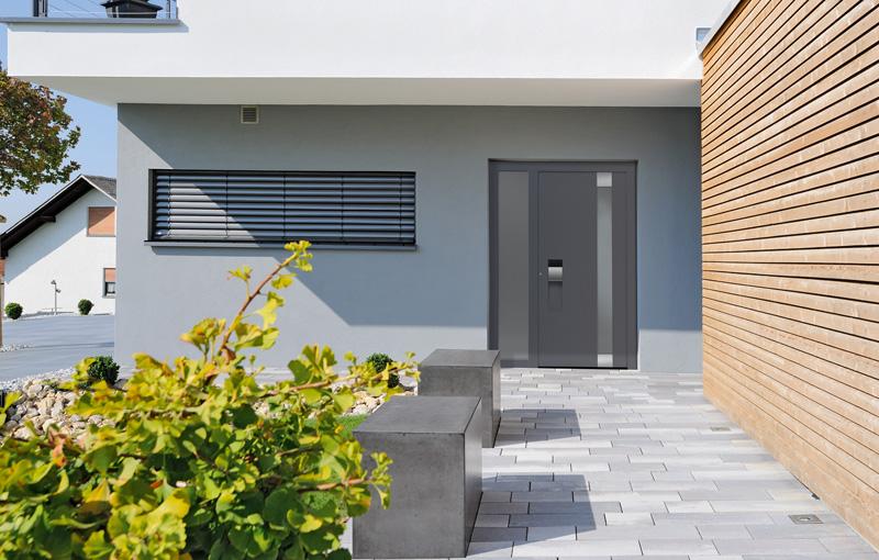 Aluminiowe drzwi zewnętrzne Hörmann ThermoCarbon