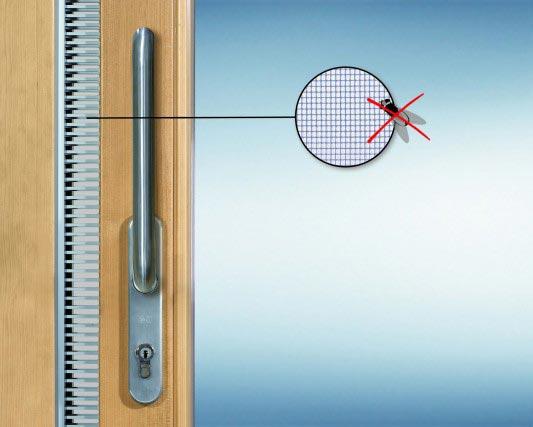 Drzwi unoszono-przesuwne POZBUD HST - zintegrowana moskitiera