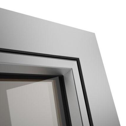 Okno POZBUD GEMINI nakładka aluminiowa Linear