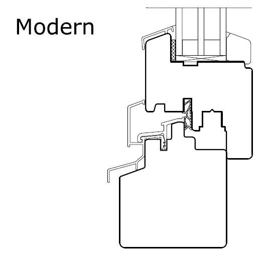 POZBUD okapnik Modern przekrój